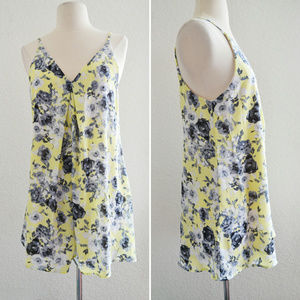 Pants - Yellow and Gray Floral Romper Size M